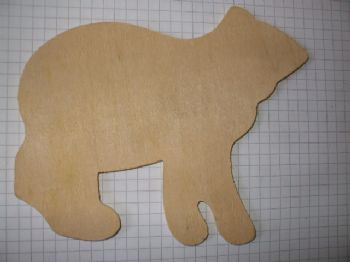 Birchply Bear Cut- Out 13.5cm x 10cm
